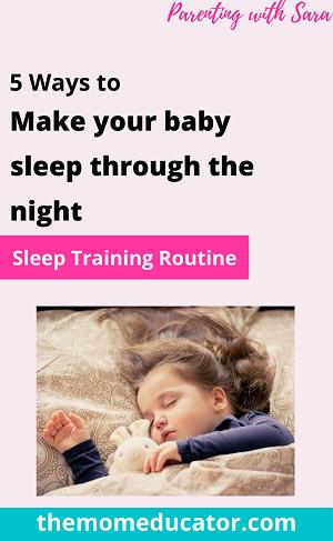 5 ways to make baby sleep through the night