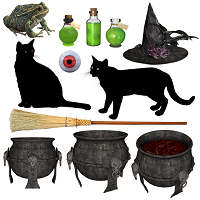 Three black cats song for halloween