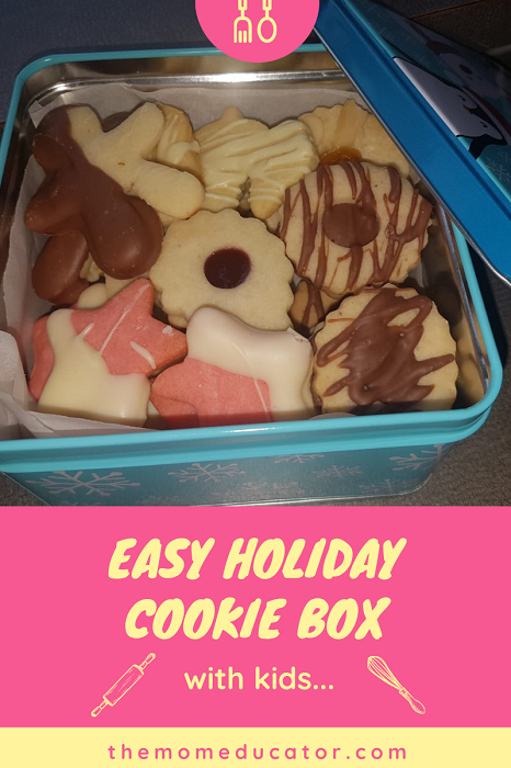 holiday cookie box for kids