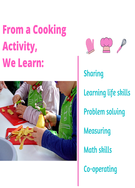 what do children learn from cooking?