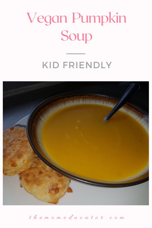 kid friendly vegan pumpkin soup