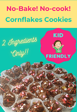 No-bake chocolate cornflakes cookies