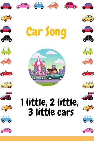 1 little, 2 little, 3 little cars - car song for kids
