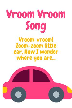 Vroom vroom song - car songs for kids