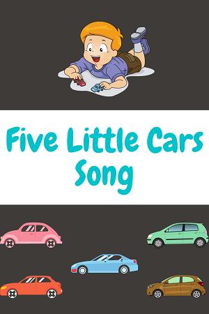 five little cars - car songs for kids