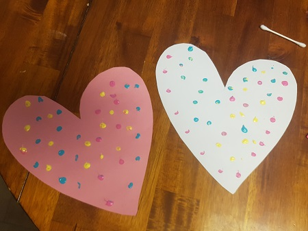 easy valentine's painting for kids