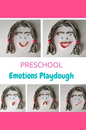 Preschool Emotions Playdough Activity