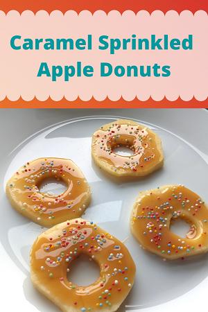 Caramel Sprinkled Apple Donuts