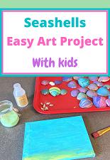 seashells art project with kids