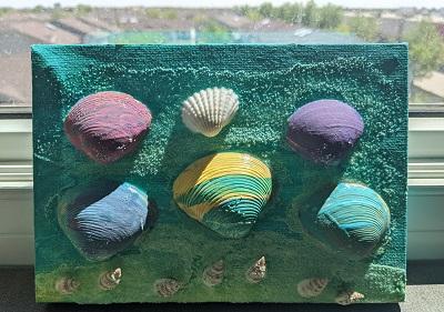 seashell art project